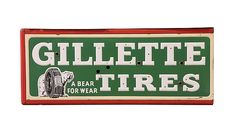 Gillette #Tires  70x28x12 presented as lot S18. #Mecum #WalkerSignCollection #Neon #Porcelain