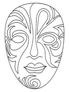 fantasie masker kleurplaat