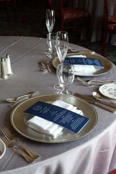 Thoughts on silver chargers on the head table and two family tables? Make them feel a bit more special?