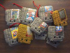 Retro Video game NES Cartridge Crochet PATTERN Nintendo Christmas Ornament