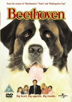 Beethoven -- An adorable puppy named Beethoven wins the heart of George Newton (Charles Grodin) and his family - only to grow up into 185 pounds of romping, drooling, disaster-prone St. Bernard!♥♥♥