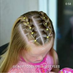 The Effective Pictures We Offer You About toddler hairstyles girl party A quality picture can tell y Easy Toddler Hairstyles, Easy Little Girl Hairstyles, Cute Girls Hairstyles, Kids Braided Hairstyles, Toddler Hair Dos, Hair For Little Girls, Female Hairstyles, Hairstyles Videos, Hairstyles For Children
