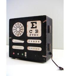 Vintage Eye Chart Light Box