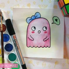 Bubble - cartoon character by Pic Candle #cute #cartoon #doodle