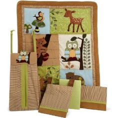 Amazon.com: Lambs & Ivy 5 Piece Bedding Set, Enchanted Forest: Baby