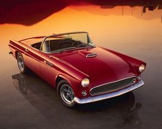 One gorgeous 1955 #Ford #Thunderbird. #Classic #Convertible #Style #Design