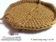 [코바늘] 바구니 뜨기 _ 도안,과정샷 : 네이버 블로그 Hats, Hat, Hipster Hat