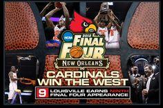 Go CARDS!!!!!!!!    Final Four!!!