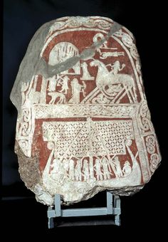 Picture stone from Gotland, Sweden, 800 - 1099.
