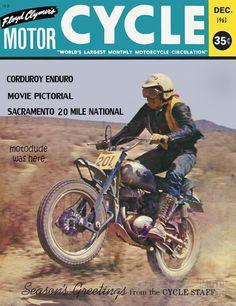 December 1963 Enduro Motocross, Motocross Racing, Racing Motorcycles, Vintage Bikes, Vintage Motorcycles, Off Road Bikes, Dirt Bikes, Desert Sled, Vintage Motocross