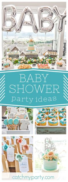 Don't miss this fantastic Gender Neutral Baby Shower. Love the donuts!! See more party ideas and share yours at CatchMyParty.com