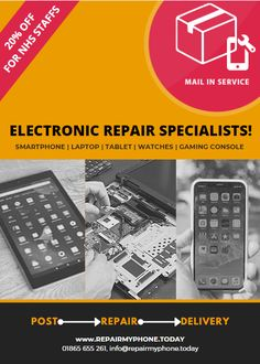 If it's an Electronic Device, we can normally fix it! Apple Repair, Pc Repair, Phone Shop, Iphone Repair, Best Phone, Electronic Devices, Smartphone, Samsung