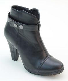 Black Polished Bootie by Italina #zulily #zulilyfinds
