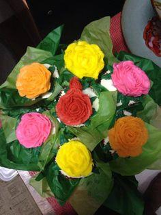 Flower bouquet cupcakes7