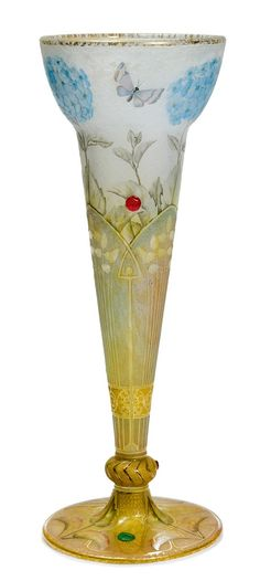 DAUM NANCY Vase, ca. 1900. Signed. H 39 cm.