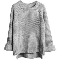 Lisli Women's Batwing Sleeve Loose Oversized Pullover Knitted Sweater (€15) ❤ liked on Polyvore featuring tops, sweaters, shirts, oversized pullover sweater, loose fitting shirts, over sized sweaters, loose pullover sweater and oversized shirts