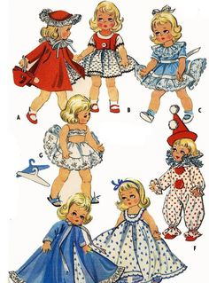 READY PRINTED Vintage Sewing Pattern to make Ginny by ickythecat