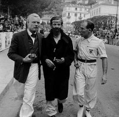 1957 Monte Carlo : Mike Hawthorn, Tony Brooks & Stirling Moss. (ph: © Phillip Brown)