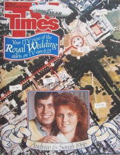 TV TIMES 19TH - 25TH JULY 1986 ROYAL WEDDING SPECIAL ANDREW AND SARAH