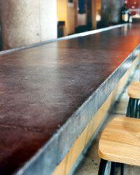 concrete bar top....