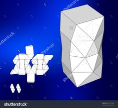 Box With Die Cut Template. Packing Box For Food, Gift Or Other Products. On White Background Isolated. Ready For Your Design. Product Packing Vector Eps10 - 362770988 : Shutterstock