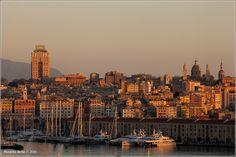 Dalla mia finestra Tramonto su Genova 6 novembre 2013 - ore 18.00