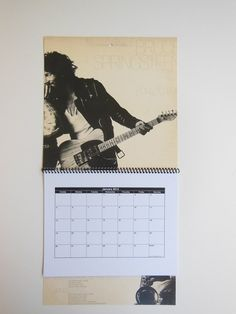 BRUCE SPRINGSTEEN Wall Calendar 2014  Record by RecordsAndStuff, $10.00
