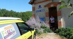 L'office de tourisme de Figeac et sa cactus jaune...