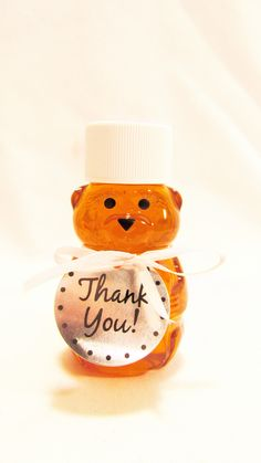 personalized mini Honey Bear.... cute for Winnie the Pooh parties!