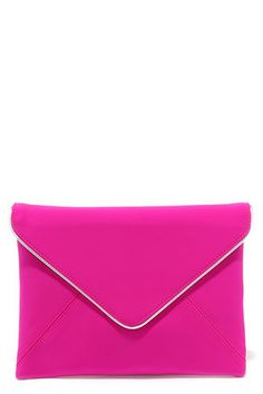 Sign Me Up Fuchsia Envelope Clutch