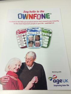 Great to be working with @ageuk in delivering our easy to use phones, https://ageuk.myownfone.com
