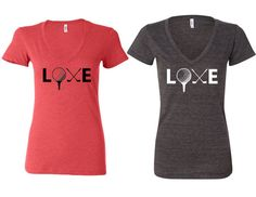 Women's Cute Golf LOVE soft fitted vneck tee by MyStateOfMind, $17.99