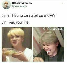 and jimins still laughing Bts Jin, Bts Bangtan Boy, Bts Boys, Jimin, Busan, Jikook, Jin Dad Jokes, Pokerface, Drama Memes