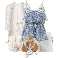 stylish eve casual clothes | Stylish Eve Outfits 2013: Beach Wear with Shorts, Perfect Out of Water ...