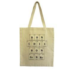 Tote Bag Bon Chic Bon Genre en coton épais sérigraphié | Hindbag @bonjourbibiche #scrabble #BCBG