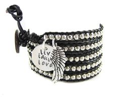 Custom Hand Stamped Bracelet  Black and Silver by geekdecree, $54.99