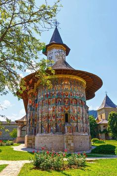 Sucevita Monastery in Romania.a rare beauty! Places Around The World, Around The Worlds, The Beautiful Country, Romania, Chile, Gazebo, Taj Mahal, Places To Visit, Outdoor Structures