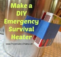 Preparedness Challenge: Make a DIY Emergency Survival Heater