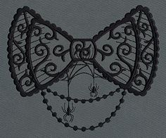 Gothic Gala - Bow | Urban Threads: Unique and Awesome Embroidery Designs