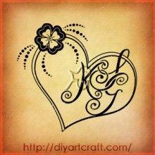 #four-leaf clover #tattoo KSG #monogram