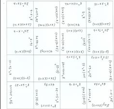 This puzzle could be used as a fluency activity for multiplying or factoring polynomials.