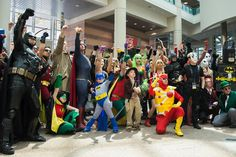 All cosplayers united for a group picture at the ACBC. For more visit : blog.costumesupercenter.com