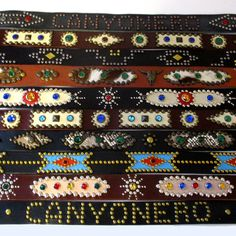 Western Studded Jeweled Rockabilly Canyonero Belts