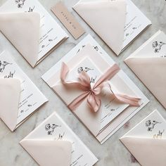 17 Tips for Making DIY Wedding Invitations You want to make your invites really reflect YOU and set the aesthetic for your big day. You've got some big choices to make, so here are some tips for creating some amazing DIY wedding invitations. Modern Wedding Stationery, Elegant Wedding Invitations, Wedding Stationary, Wedding Invitation Cards, Wedding Cards, Diy Wedding, Wedding Invitations With Ribbon, Invites, Event Invitations