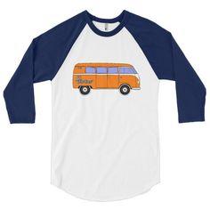 Go Further Van Life 3/4 Sleeve Baseball Shirt