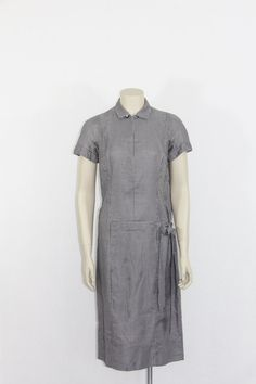 1960s Vintage Dress  Black and White Check by VintageFrocksOfFancy
