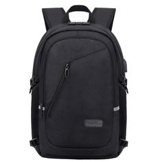 Buy Travel Laptop Backpack, Anti Theft Water Resistant School Backpack, Slim College Backpack with USB Charging Port Fits inch Laptop & Notebook, Casual Backpack for Men/Women/Boys/Girls - Black Best Laptop Backpack, Computer Backpack, Computer Bags, Laptop Bags, Waterproof School Backpack, Lightweight Travel Backpack, Anti Theft Backpack, Best Laptops, Luggage Straps