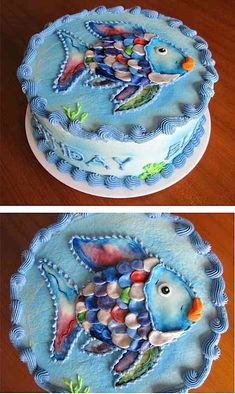 Cool Homemade Orange Fish Cake With Skittles Fish Cake and Cake mixes