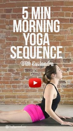 5 Minute Morning Yoga Flow for Stretching and Strengthening (Video)