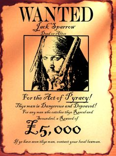 pirate wanted posters - Google Search